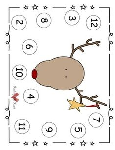 Free! Roll and cover reindeer... cute open ended activity also can be math center activity