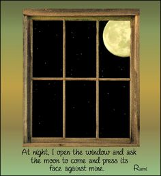 Rumi - poetry.  I love the moon lighting up the darkness.