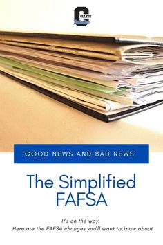 Changes are coming! The simplified FAFSA will be significantly shorter, and the Expected Family Contribution number will be a thing of the past. #highschool #collegeplanning #FAFSA #financialaid #parentingteens #collegeadmissions Financial Aid For College, College Planning, Scholarships For College, High School Writing Prompts, College Admission Essay, Change Is Coming, Multiplication For Kids, College Organization