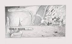 Jerameel Lu, a talented pencil artist, posted this image to criticize the media's response to the tragic attacks that happened this weekend in Paris. As he writes on his Facebook page, this piece is only against the almost unequal treatment of the world media on every terrorism act.