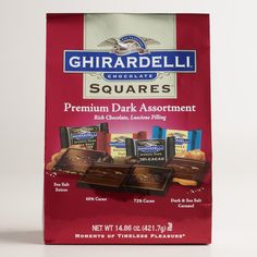 Our Ghirardelli Dark Chocolate Assortment Value Bag is perfect for the chocolate lover who can't resist more than one piece. Ghirardelli Chocolate Squares, Lindt Chocolate, Chocolate Orange, Chocolate Lovers, Sea Salt Caramel, Pop Tarts, Truffles, Snacks, Peter Cottontail