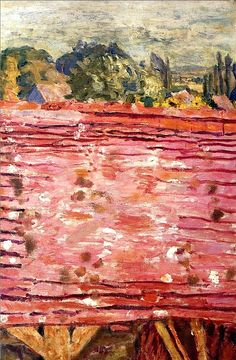 A Red Roof / Pierre Bonnard,1922