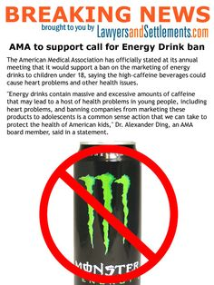 BN AMA Energy Drink copy Under 18 Energy Drink Ban Gets AMA Support. Had a bad experience with an energy drink? Lawsuits are starting to grow. Effects Of Energy Drinks, American Medical Association, The Marketing, Health Matters, Basketball, Sayings, Blog, Netball, Lyrics