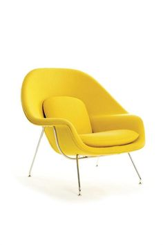 It's kind of mind-blowing when you consider that Eero Saarinen designed his Womb chair—ostensibly an icon of the '60s—way back in 1946. The Knoll bestseller is still fabricated as originally intended, with a molded, reinforced-fiberglass shell wrapped in foam, and cushions made from polyester fiber with a foam core. The woven KnollTextiles upholstery fabric shown here, Cato, is also a midcentury classic, dating to 1961. • knoll.com