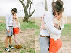Well-Groomed Engagement: The Long and Short(s) Of It - this #groom works shorts in three stylish ways. (via Ciara-Richardson.com)