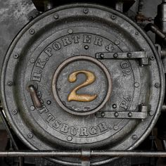 Steam train ~Via Grant Birch What's Your Number, Number Two, Magic Number, Grey Yellow, Vintage Industrial, Industrial Signs, Letters And Numbers, Color Splash, Signage