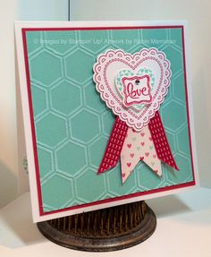 Stampin' Up! Valentine  by Robin Merriman at Trinity Designs: Hearts A Flutter