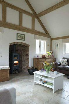 Border oak beautiful oak frame, awesome wood stove