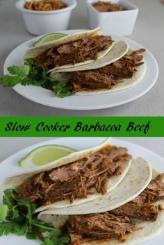 This Slow Cooker Barbacoa Beef is easy to make and the perfect alternative to tacos. Great family dinner with a little spice!