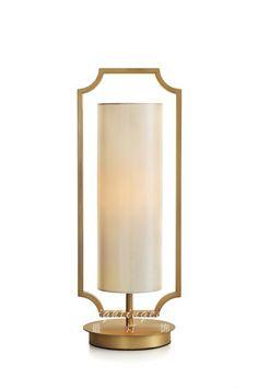 The modern new Chinese style table lamp【最灯饰】现代新中式铜色简约朴素台灯