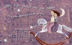 January 2013 Desktop Wallpaper from www.Erinsartjournal.com