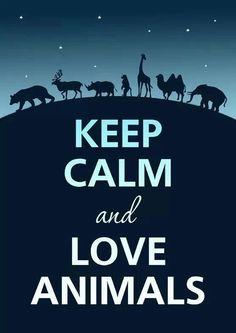 KEEP CALM and LOVE ANIMALS #Animal #Love