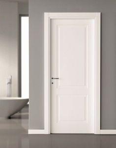 2 Panel Door. Craftsman style interior trim