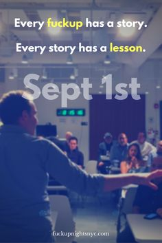 Fuckup Nights NYC - Chelsea Volume 8 September Pivotal Labs 625 Avenue of the Americas New York, NY 10011 Tickets in the link or on Eventbrite 8 September, Labs, Chelsea, Nyc, Events, York, Night, Labradors, Labrador
