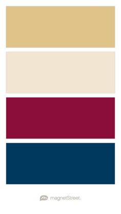 Gold, Champagne, Burgundy, and Navy Wedding Color Palette - custom color palette created at MagnetStreet.com