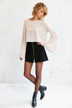 Oh My Love Silky Bell Sleeve Blouse - Urban Outfitters