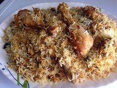 Hyderabadi Chicken Dum Biryani recipe is an authentic Hyderabadi special rice dish which is a popular Dum Biryani recipe of Chicken from Hyderabadi Cuisine. Afghan Food Recipes, Veg Recipes, Indian Food Recipes, Asian Recipes, Chicken Recipes, Cooking Recipes, Indian Foods, Chicken Byriani Recipe, Garlic Chicken