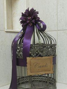 Items similar to Romantic vintage/rustic wedding/birdcage/card holder on Etsy Wedding Envelope Box, Wedding Envelopes, Card Box Wedding, Wedding Wishes, Plan My Wedding, Our Wedding, Wedding Ideas, Wedding Styles, Wedding Stuff