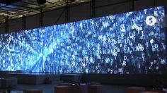 """Letter Universe Installation by Strukt. My company, Strukt, realized this installation with the node-based programming language VVVV. We built this letter-universe to functioned as a soothing ambient visual but also created type-matrix pictures and fonts to feature the participants of """"The design:project"""", a competition hosted by Mercedes-Benz."""