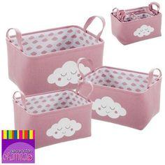 Enseña a tu peque a ser ordenada con estas divertidas cestas que a la vez decoran su cuarto.