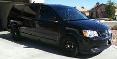 Dodge Grand Caravan black Plasti Dip Rims!