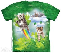 Green Irish Fairy Kittens T-Shirt
