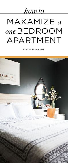 Genius small apartment decorating ideas that will maximize your space. | Read up on these clever one-bedroom apartment hacks and storage ideas from the interior design experts at Homepolish.