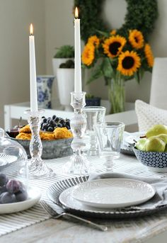 Fall Home Tour - French Farmhouse Style Table Setting - Satori Design for Living #Thanksgiving