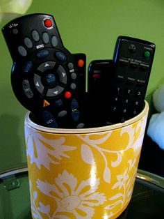 kleenex box remote holder