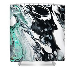 Fluid Acrylic In Tropical Jungles 2 Shower Curtain by Jenny Rainbow. This shower curtain is made from polyester fabric and includes 12 holes at the top of the curtain for simple hanging. The total dimensions of the shower curtain are wide x tall. Artwork For Home, Home Art, Curtains With Rings, Jungles, Curtains For Sale, Fluid Acrylics, Different Patterns, Basic Colors, Abstract Pattern