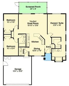 Compact And Open House Plan - 72707DA | Ranch, Narrow Lot, 1st Floor Master Suite, CAD Available, PDF, Split Bedrooms | Architectural Designs