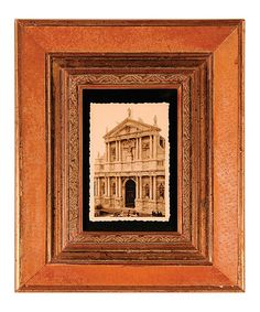 Take a look at this Orange & Brown Picture Frame by The Import Collection on #zulily today!