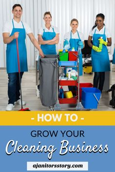 Grow your cleaning business TODAY!  Learn how to sell more cleaning service tasks and grow your residential and commercial cleaning service company.  House cleaning business | Commercial office cleaning company.  #ajanitorsstory #professionalcleaningbusiness House Cleaning Company, Cleaning Services Company, Commercial Cleaning Services, House Cleaning Checklist, Professional Cleaning Services, Cleaning Companies, Diy Cleaning Products, Office Cleaning, Cleaning Business