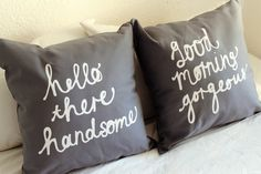 His+and+Hers+Pillow+Covers+in+Grey+18+x+18+inch+by+ZanaProducts,+$54.00