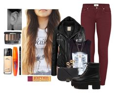 Tegan by amour-vicieux on Polyvore featuring polyvore fashion style Paige Denim Dr. Martens Burberry Apt. 9 Pamela Love Maybelline Rimmel Bare Escentuals Burt's Bees clothing darkness