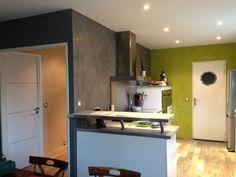 Enduit mural tadelakt gris galet de Luxens : parfait pour ma cuisine ...