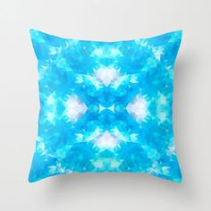 Art Pillow Triangles Polygon Abstract Pattern Throw by NikaLim, ₪110.00