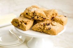 Savor bites of raisins, chopped walnuts, and crystallized ginger in these flakey buttermilk scones flavored with ginger, cinnamon, and molasses. #ChallengeButter #butter