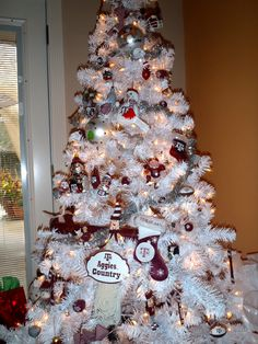 My Aggie Christmas Tree!! Whoop! #CollegeColors
