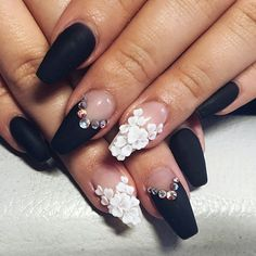 Try some of these designs and give your nails a quick makeover, gallery of unique nail art designs for any season. The best images and creative ideas for your nails. Rose Nail Art, Rose Nails, 3d Nail Art, Art 3d, Nail Arts, 3d Nail Designs, Flower Nail Designs, Acrylic Nail Designs, Nails Design