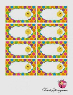 Pascua: Alegre Kit de Pollitos para Imprimir Gratis.