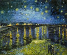 Starry Night Over the Rhone  Vincent van Gogh by paintingmania