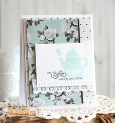 A place to share handmade paper crafts, cards, and gift ideas. Stamp Tv, Give It To Me, Let It Be, Coffee Set, Just Giving, Pattern Paper, I Card, Cardmaking, Birthday Cards