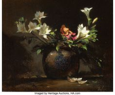 Fine Art - Painting, American:Contemporary to present) , DAVID A. LEFFEL (American, b. Painting Still Life, Still Life Art, Art Floral, Still Life Flowers, Still Life Photography, Art Oil, Lovers Art, Great Artists, Online Art