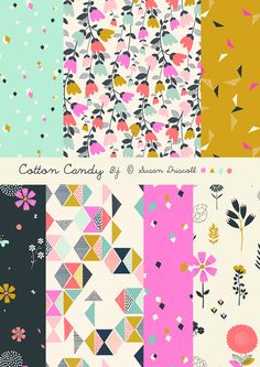 print & pattern: FABRICS - Cotton Candy by susan driscoll for dashwood