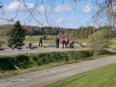 Play Golf on your Go Nature Trip. Park the Motor Home outside overnight.