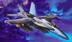F/A-18D Hornet 'Night Attack' (Academy box art)