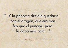Un dragón hermoso.