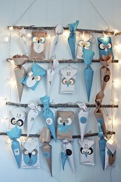 It's amazingly beautiful!  Owl Advent Calendar Ideas