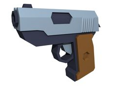low poly pistol